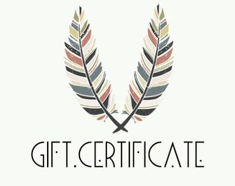 Gift Certificate - SELECT YOUR AMOUNT