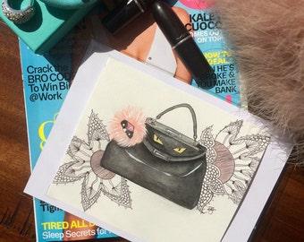 Fendi Handbag Painting