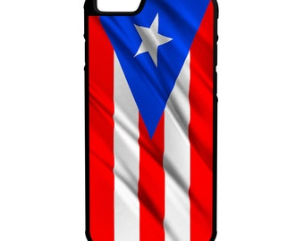 Flag of Puerto Rico iPhone Galaxy Note LG HTC Hybrid Rubber Protective Case