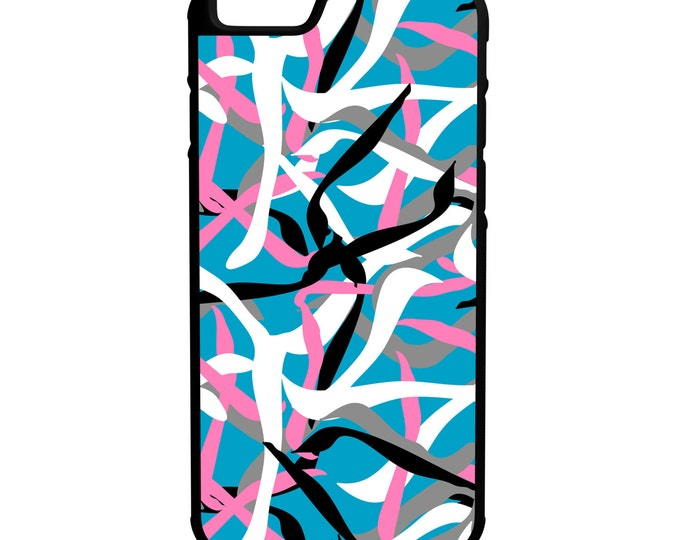 Abstract Line Pattern iPhone Galaxy Note LG HTC Hybrid Rubber Protective Case