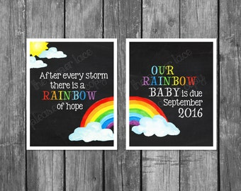 Rainbow baby, rainbow baby pregnancy announcement photo prop, pregnancy reveal,