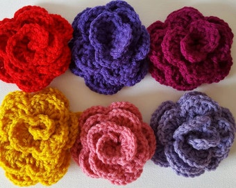 Crocheted roses group 1 crafting Ready to ship