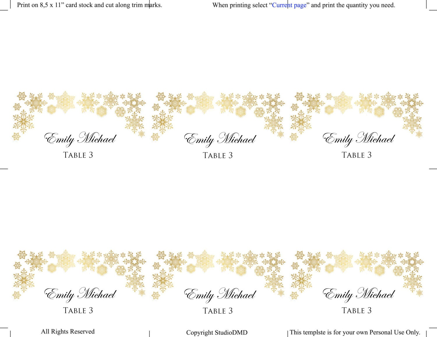 sample wedding seating chart