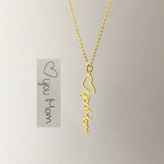 vertical personalized name necklace 925 sterling by