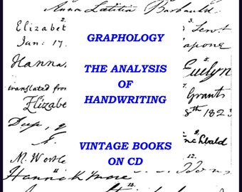 Graphology Handwriting Analysis Vintage Book Collection on CD Antique Old Rare Books