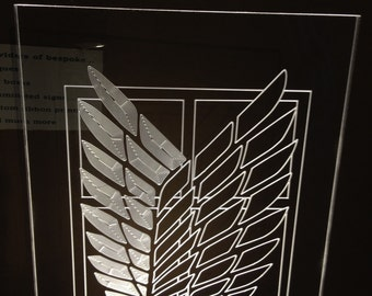 Attack on Titan scout  light up sign.