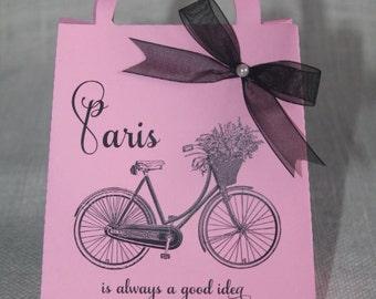Sweet 16 Paris favor bag, Paris party theme favor, Set of 12, Paris baby shower, Paris bachelorette, Paris engagement,Paris birthday theme