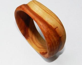 Wooden bracelet, Wooden bangle, Handcarved Bangle