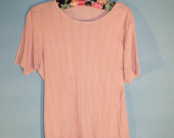 Vintage 1990's Pink Sweater Tee Size M/L