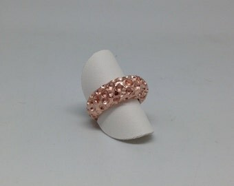 Ring Moonstruck in pink gold plated silver
