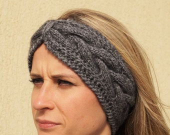 Gray, Knitting Winter Headband , Crochet Headband, Ear Warmer, Turban ,Women Turban,Winter Ear Warmer,Head Warmer