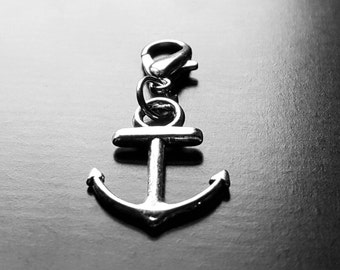 Anchor Dangle Charm for Floating Lockets, Necklaces, or Bracelets-GiIft Ideas for Women