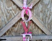 Love door hanger, valentines wreath ,front door hanger, wall hanger, Valentine's Day door hanger, love sign, romantic decor