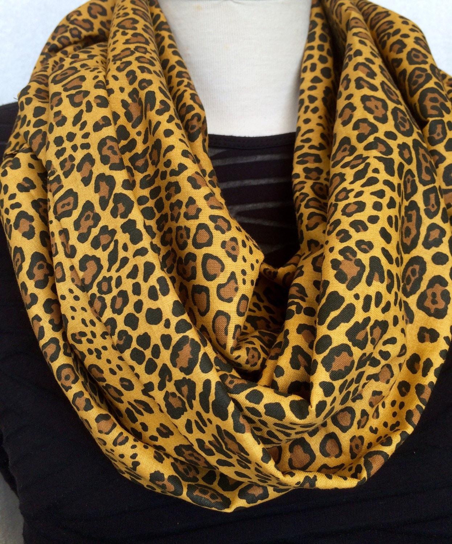 leopard print infinity scarf animal print by splendidfindings