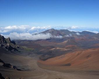 Red dunes on Mt. Haleakala - nature photography - Maui, Hawaii landscape