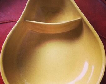 Vintage Pfaltzgraff yellow pear shaped chip bowl