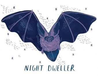 Night Dweller // A4 Giclee Print