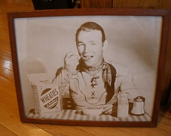 1950s ROY ROGERS Promotional Print - WHEATIES Cereal - Original - Hollywood