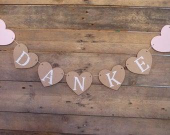 Heart Garland thank you - wedding / birthday / wedding decor, wedding / Bridal