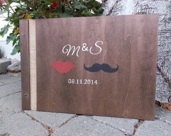 "Wedding guest book ""Beard/lip"""