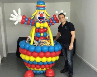 Gift Box Clown Sculpture