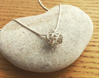 Handmade Sterling Silver Knot Necklace
