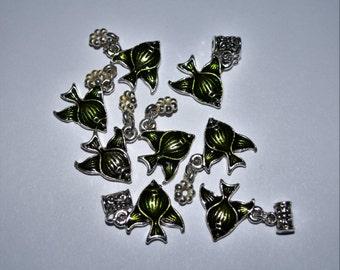 Metallic Green Fish #420