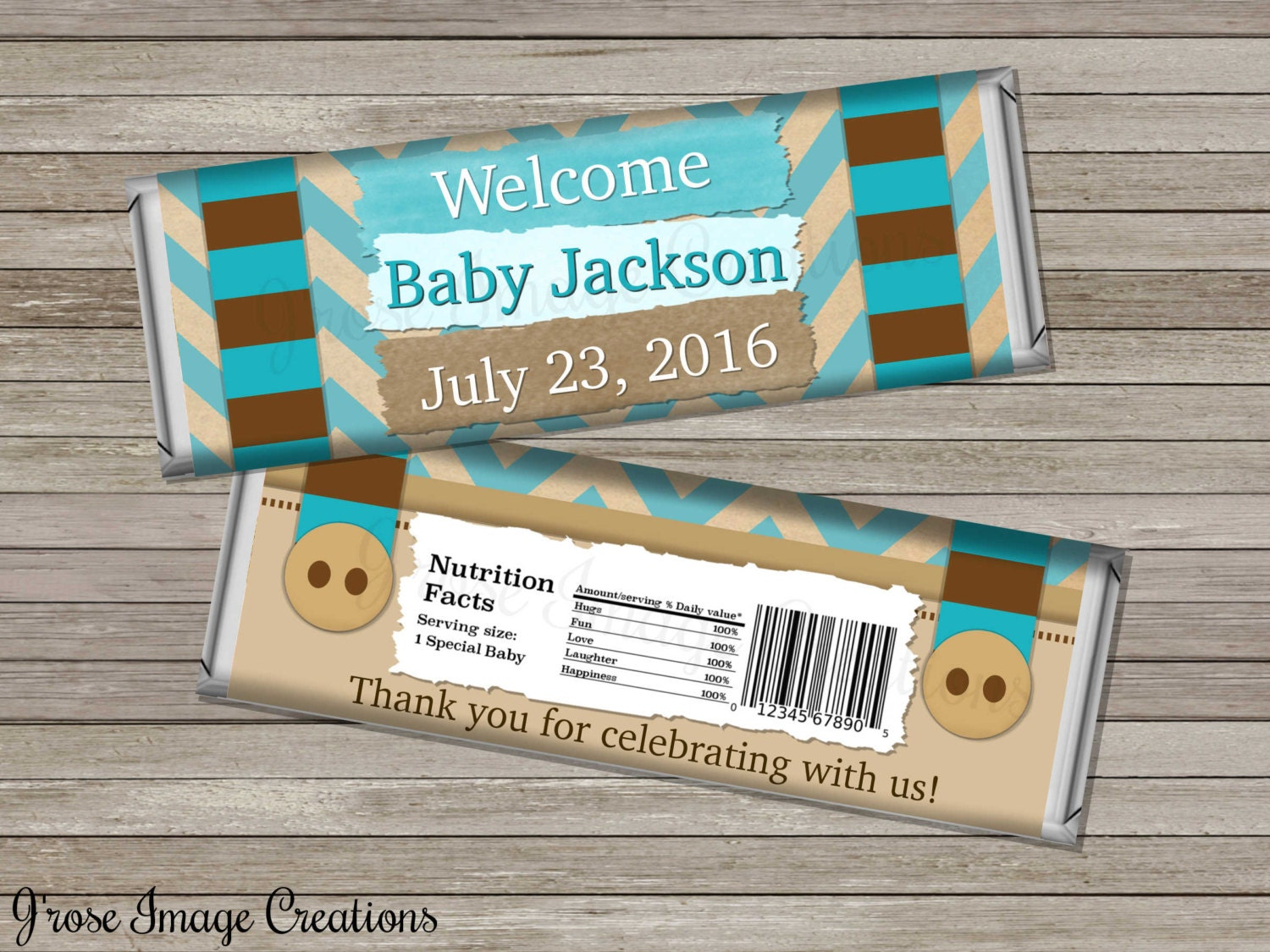 little man baby shower chocolate bar wrappers thank you