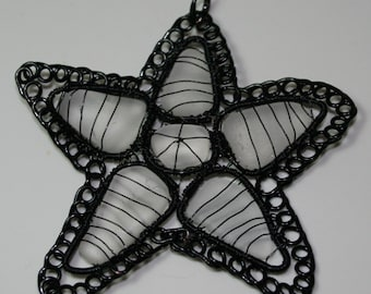 BLACK FROST - Sea Glass Pendant