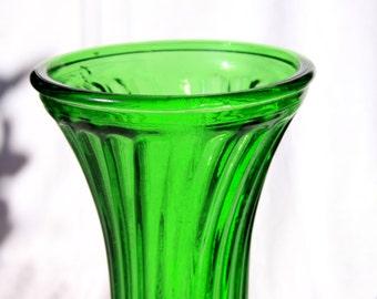 Vintage Hoosier Glass Green Vase