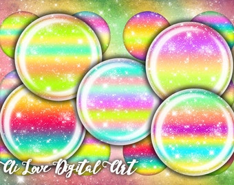 Digital collage sheets, instant download, Glitter, digital printables circle 12mm, 14mm, 16mm, 18mm, 20mm bottle cap images, jewelry making