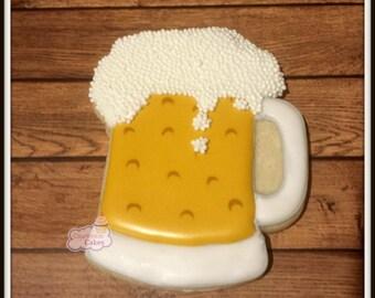 """Beer Mug decorated  cookies 3.5"""" -1 dozen"""