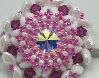 Pink and White Pendant