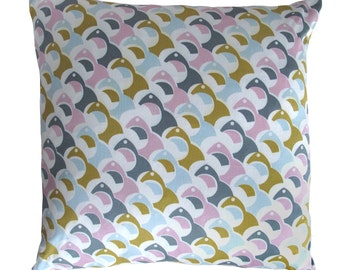 SALE Hand Printed Cushion with Feather Pad