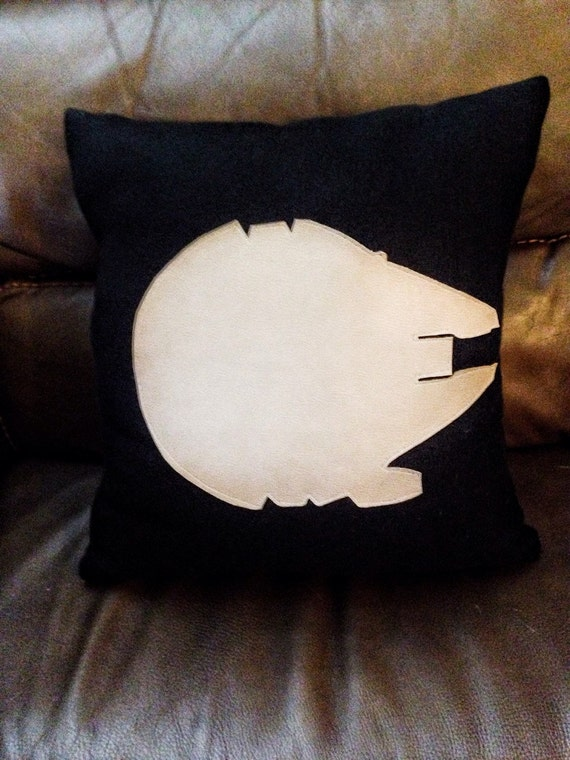 Star Wars Millennium Falcon Pillow Rebel Alliance by 2NerdGirls