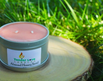 Almond Honey Swirl, All Natural Soy Candles