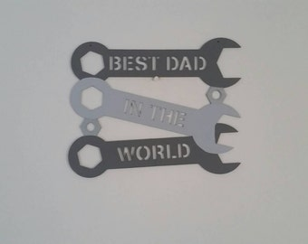 Unique gift for any Dad, great for Fathers day, birthdays, or Christmas. Customised hanging wall sign for men.