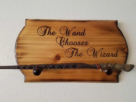 harry potter wand chooses the wizard wall hanging wand holder. Black Bedroom Furniture Sets. Home Design Ideas