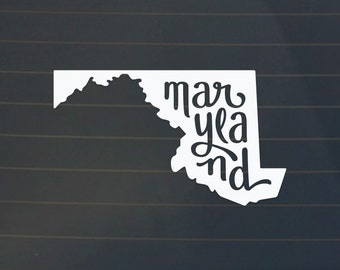 Maryland Car Decal - Maryland Decal - Maryland Sticker