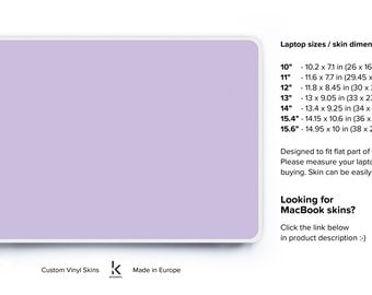 Laptop Purple Decal in universal size Laptop Skin Cover Acer Skin Chromebook Skin Cover Dell Skin HP Skin Lenovo Skin Toshiba Skin Purple