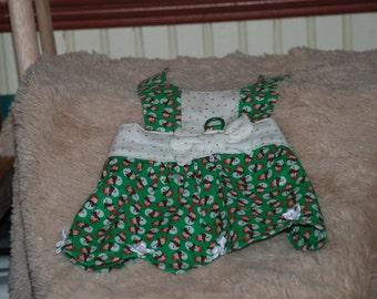 Petal/Scalloped Hem Dog Dress Custom made for your canine fashionista...extra small to medium size dog