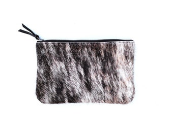 Cowhide Clutch - Brown and White   Bag   Purse   Wallet   Pouch