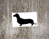 dachshund v2 vinyl decal, dachshund sticker, gift for dachshund lover, dog decal, tumbler decal, laptop decal, car window decal, doxie decal