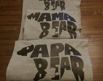 Mama, Papa, & Baby Bear Set