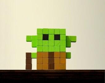 Yoda Voxel Figure