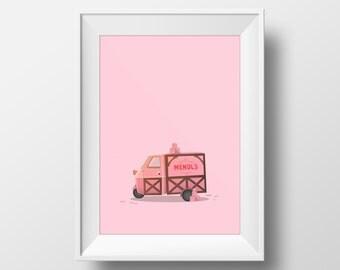 Mendl's Van - The Grand Budapest Hotel Poster