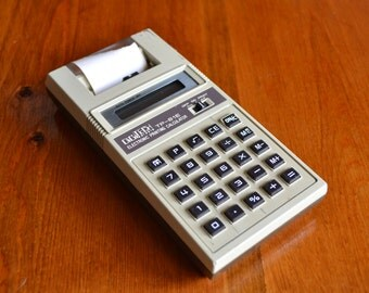 Printing Calculator 80's Digitech TP-81E Vintage