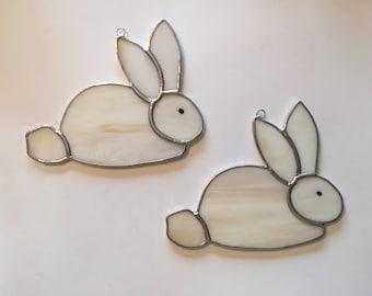 Handmade Stained Glass Bunny Rabbit Suncatcher
