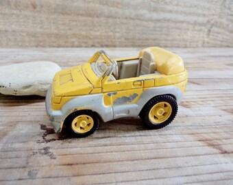Vintage Car Toy, Heinrich Bauer Car Toy, Pickup Toy, Yellow Car Toy, Metal Car Toy, Old Car Toy, Collectibles Toy