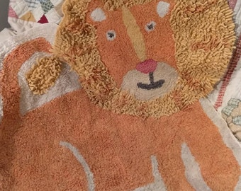 Vintage Lion Rug - About 2 foot tall